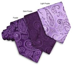 Update your business clothing with a stylish silk tieTie features 100-percent woven silk in purple paisleyMen's clothing has an overall length of 58 inches