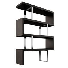 The Pearl Bookcase adds a modern edge to any room. Four fixed hardwood shelves with ladder-style stainless steel supports give the Pearl a light appearance.