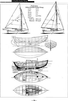 Plans and specifications by Fenwick Williams Commentary by the editors of Wooden Boat - Boat Designs Best Boats, Cool Boats, Small Boats, Boat Wallpaper, Boat Girl, Sailboat Plans, Classic Sailing, Boat Names, Wooden Boat Building