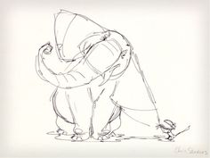 The Lion King Rough Drawing By Chris Sanders
