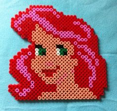 Disney Ariel hama perler by arthystik - could easily convert to cross-stitch pattern!???