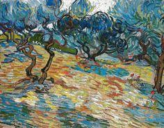 Vincent van Gogh - Olive Trees, 1889 at the National Gallery of Scotland Edinburgh Scotland
