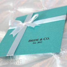 Tiffany & Co Inspired Bridal Shower Invitations  by LovinglyMine, $18.00
