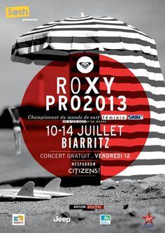 L'affiche officielle du #RoxyPro2013 #sosh partenaire officiel