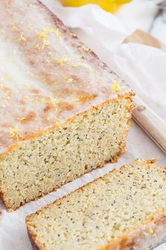 This paleo lemon poppyseed bread is made with cashew and coconut flours. It's incredibly moist and topped with a lemon glaze for a delicious grain free treat.