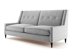 Amazon.de: Ives 2 Sitzer Sofa grau, Couch, Jugendsofa, couchgarnituren, lounge möbel