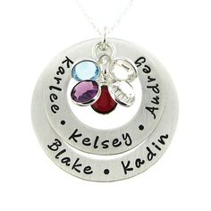 Hand Stamped Personalized Necklace  My Family by jcjewelrydesign, $89.00