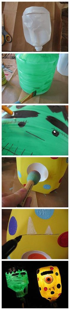 DIY  Lanterns: DIY  Monster Yard Lights