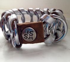 Snake silver leather NEW collection fall/winter handmade bracelet by Caroline for www. Fall Winter 2015, Handmade Accessories, Handmade Bracelets, Snake, Belt, Silver, Leather, Collection, Belts