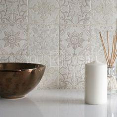 'Moroccan Tile' Geometric Tile Effect Wallpaper in Grey, Beige, Cream & White in Home, Furniture & DIY, DIY Materials, Wallpaper & Accessories | eBay