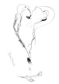 DARTGR0715009 #Heart #Black #love #Minimal #DanielaDallavalle #Grafismi #loveistheanswer #ink #sketches #art