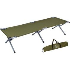 Trademark Innovations 75 Inch Portable Folding Camping Bed And Cot, 260 Lb  Capacity, Olive
