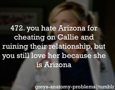 You can't stay mad at Arizona and her Super Magic Smile that makes everything better... :)
