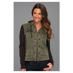 Free People Pieced Twill Jacket featured on Glance by Zappos