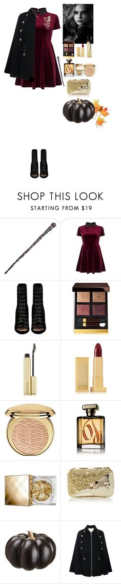 """""""Modern Witch Halloween 2016"""" by eliza-redkina on Polyvore featuring мода, Miss Selfridge, Barbara Bui, Arca, Tom Ford, Kevyn Aucoin, Lipstick Queen, Christian Dior, ORMONDE JAYNE и Burberry"""