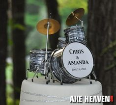 Custom Drum Kit Cake Topper My Wedding Ideas Wedding