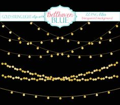 Gold String Light Clipart