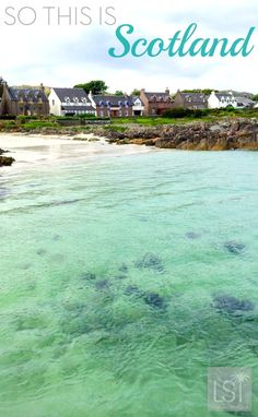 This is Iona, in the Scottish Hebrides, the sea here is so clear, so many shades of blue - not what we expected of a Scotland beach. #travel #Scotland