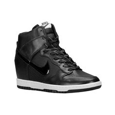 Nike Dunk Sky High Women's ($125) ❤ liked on Polyvore featuring shoes, sneakers, nike shoes, nike footwear and nike