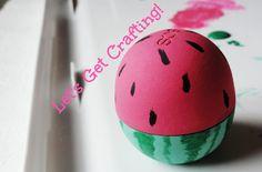 Diy: eos watermelon decor eos chapstick, watermelon crafts, diy lip balm, d Crafts For Teens, Fun Crafts, Diy And Crafts, Eos Chapstick, Hobby Lobby Wedding Invitations, Watermelon Crafts, Eos Lip Balm, Lip Balms, Hobby Supplies