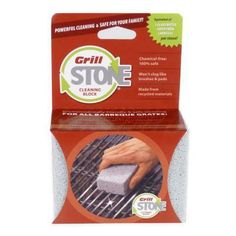 Get your grill ready for backyard BBQs with a GrillStone Cleaning Block!