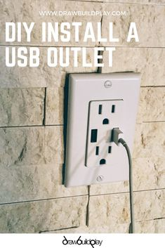 Easy DIY Install for a USB Outlet to make charging your devices easier. A USB Outlet is ideally suited for a home office, library, or even at work to charge all of our devices. Mount this under a desk or on the wall. Rustic Room, Rustic Farmhouse Decor, Farmhouse Office, Contemporary Family Rooms, Great Place To Work, Office Themes, Wall Boxes, Diy Kitchen, Kitchen Ideas