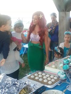 Our Mermaid princess party was a success today! We love our jobs! Www.AFairytaleComeTrue.com 561-396-3644