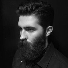 Chris John Millington - full thick dark beard and mustache beards bearded man men nose piercing handsome bearding #beardsforever