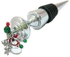 Wine Bottle Stopper with Snowman theme @classiclegacy