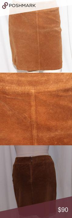Suede Mini, by Pendleton NO WAY! ReLove  100% suede tan mini skirt EUC BACK ZIP Pendleton Skirts Mini