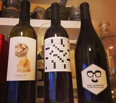 """Member thehbiz: """"I choose my wine largely based on the label (a proven scientific method). This is probably my favorite group of labels from Club W yet! You can even go online and find the clues for the puzzle too - something I fully intend to do. Heather Brown, Wine Delivery, Scientific Method, Choose Me, Puzzle, Label, Club, Group, Canning"""
