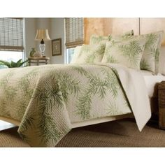 tropical palm tree hawaiian quilt coverlet setwashable