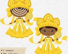 Orixás Oxum - Clipart / Vetor Holy Mary, Orisha, Sacred Art, String Art, Red Roses, Emoji, Disney Characters, Fictional Characters, Sculptures