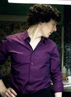 "I'd apologize for all my Benedict Cumberbatch pins lately, but I'm not really sorry. ""The purple shirt of sex"" - deserves to be infinitely pinned."