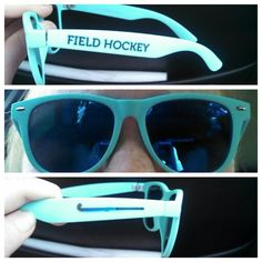 My awesome field hockey sun glasses... bought at @ChalkTalkSPORTS ...I added the field hockey stick
