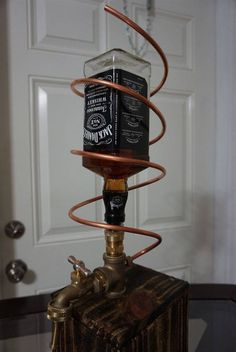 Custom made Jack Daniels Whiskey Dispenser Fountain great for any man cave garage shop!  www.Dun4Me.com