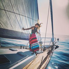 Sailing with Hanni Davis... Photo James Arthur