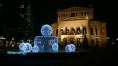 Joulunodotusta ja valojuhlaa Frankfurtissa 10.12.2013