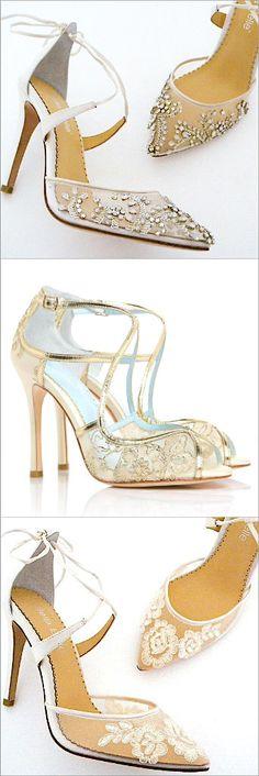 Bella Belle Wedding Shoes. The prettiest lace wedding shoes. So Feminine. So Romantic.