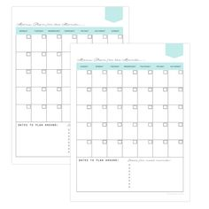 Menu Planning Kit 14 documents standard and half size