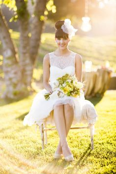 my dream wedding <3 from dress to decor...well- minus the gold table cloth