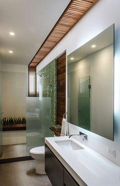 art,bomdia-By ADI Arquitetura & Foto Oscar Hernandez Bathroom Interior, Modern Bathroom, Small Bathroom, Bathrooms, Master Bathroom, Modern Interior Design, Interior Architecture, Restroom Design, Villa