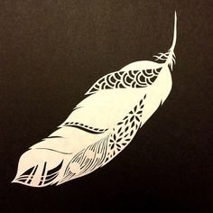 Feather Papercut by queenbaby on Etsy, $20.00