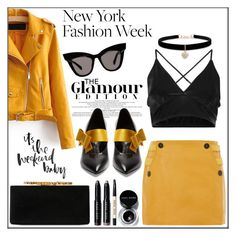 """What to Wear: New York Fashion Week"" by pat912 ❤ liked on Polyvore featuring Jimmy Choo, Prada, Topshop, Betsey Johnson, Bobbi Brown Cosmetics, NYFW, womenfashion, polyvoreeditorial and FashionMYWay"