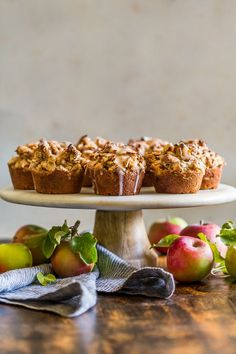 Grain Free Glazed Cinnamon Apple Streusel Muffins | Get Inspired Everyday!