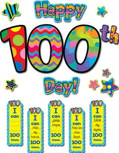 Get your classroom ready with this Happy 100th Day! Bulletin Board Set!