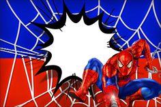 Spiderman: Free Printable Invitations.