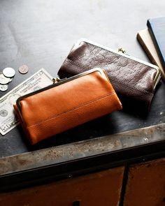 トーンオイルヌメ がま口長財布 / 土屋鞄製造所