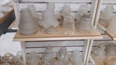 Ceiling Fan Light Globes, Ceiling Fan Shades, Glass Light Globes, Glass Light Shades, Globe Lights, Ceiling Fans, Lamp Shades, Repurposed Light Globes, Repurposed Items