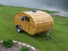 Wood strip Teardrop - I'm not much of a camper person, but wow. I like this.